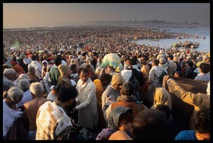 Devotees at Ganges for Kumbh Mela Festival